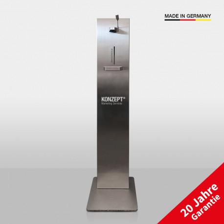 Desinfektionsständer Premium mit Logo - Modell 2