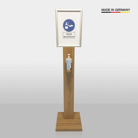Desinfektionsstation Holz + DIN A3 Klapprahmen