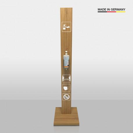 Desinfektionsstation Holz + 4 Icons