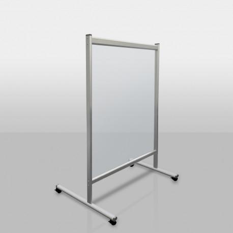 Mobile Trennwand aus Plexiglas 120 x 150 cm