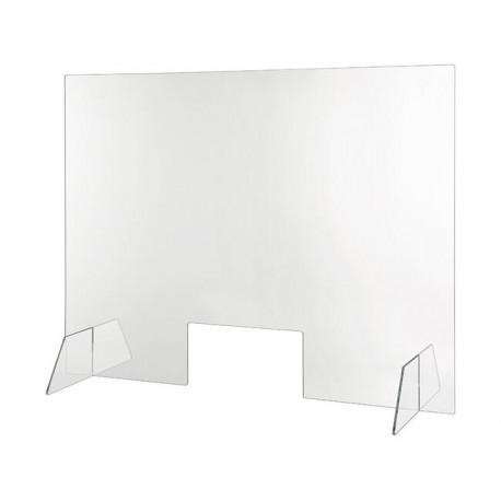 Schutzscheibe transparent 100 x 75 cm mit Durchreiche